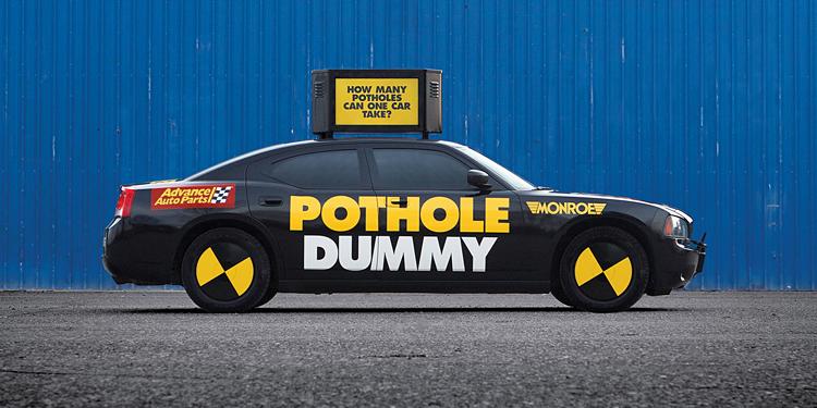 Pothole Dummy campaign helps identify damage done to vehicles
