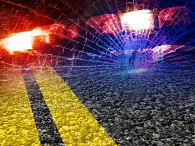 Driver hospitalized after scrape with semi truck
