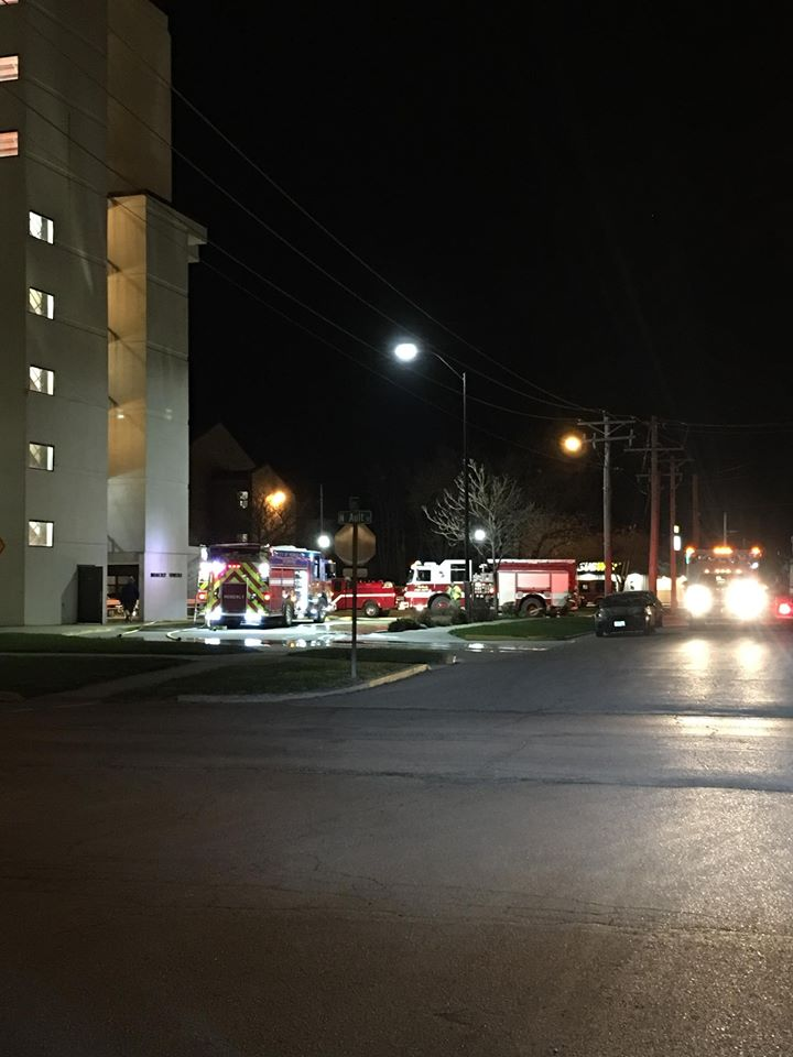 A fire caused the evacuation of Moberly Towers Friday