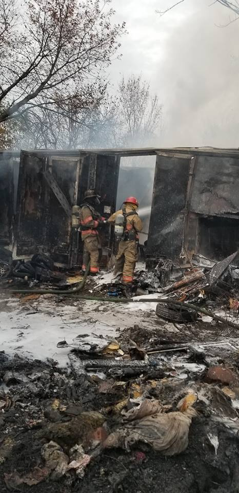 Wood Heights Fire sent to extinguish burning tires and old cars