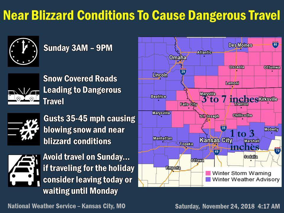 UPDATE: Travelers warned of potentially hazardous conditions this weekend