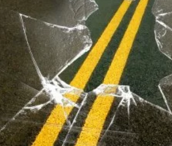 Sleepy driver injured after scrape with utility pole