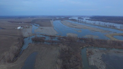 Water reported over Highway 10 in Carroll County