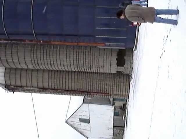 Fred & Rob's silo coming down
