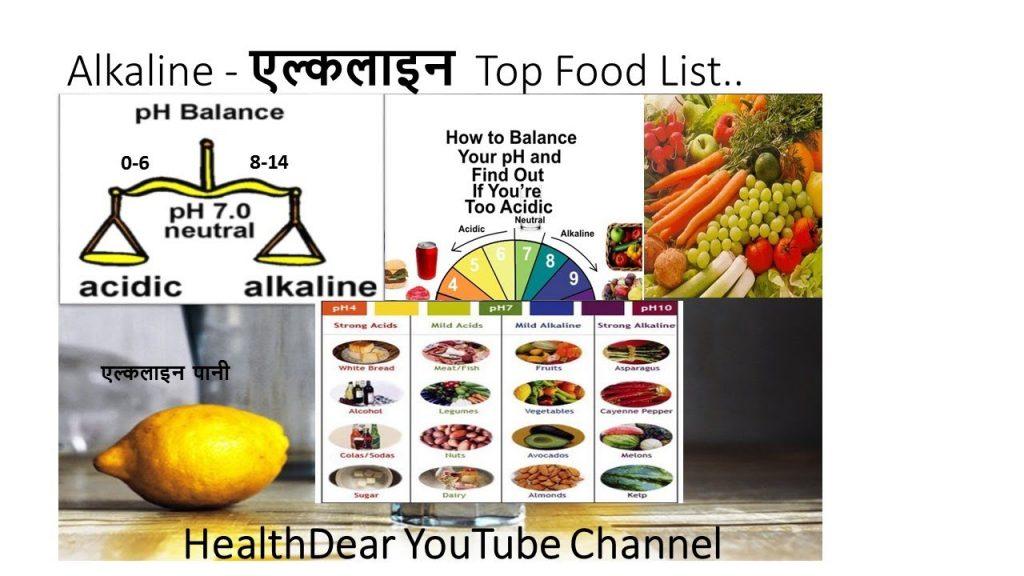 Alkaline food list – High Alkaline food in Hindi