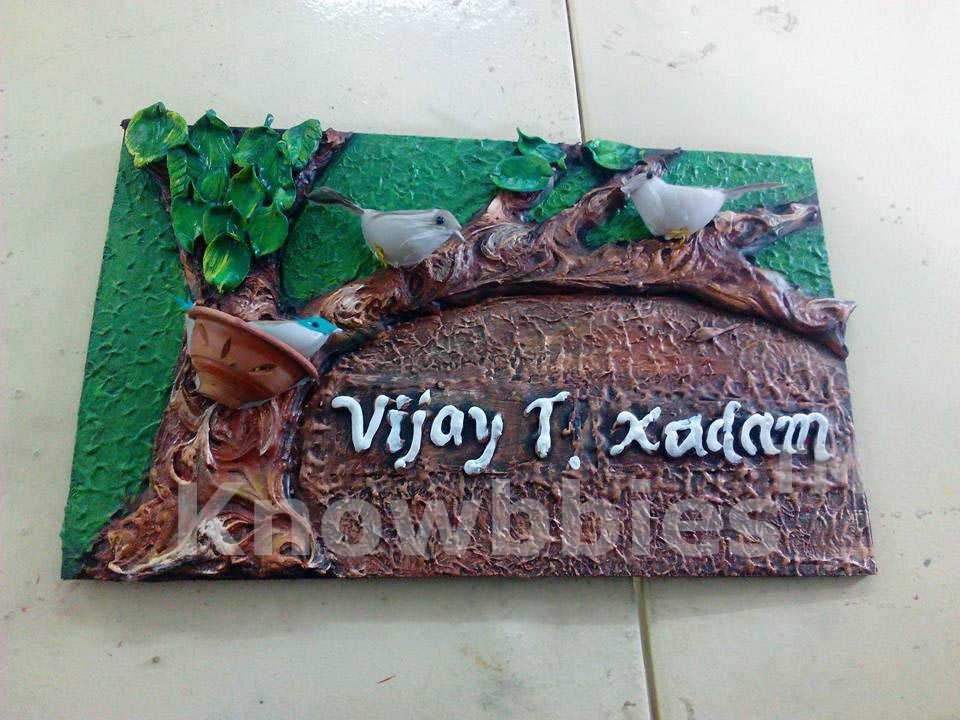 1000 images about 3d mural clay art on pinterest for Mural name plate
