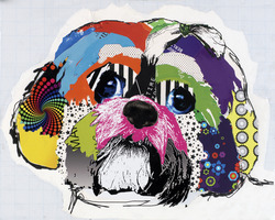 Izzy_shih_tzu_dog_art_collage