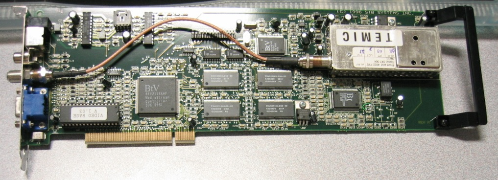 STB Front End 4032 FY5 TEMIC 3X7 004 PCI Card