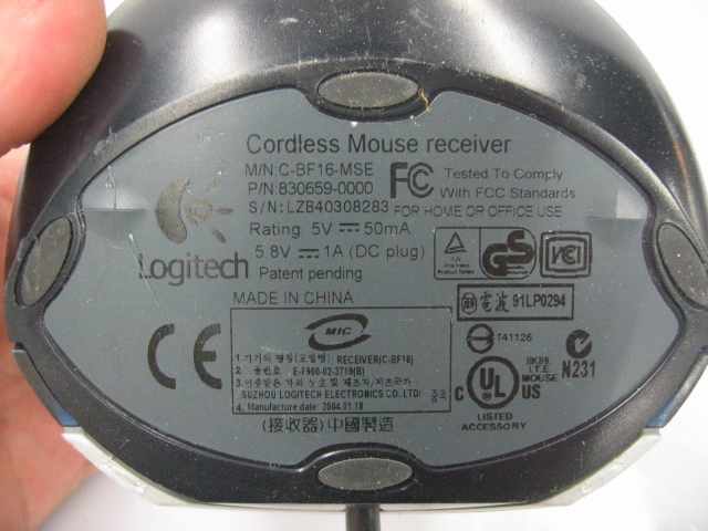 Logitech Cordless Desktop Mouse C-BF16-MSE KILL ME NOW