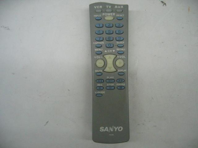 Sanyo FXVR TV/VCR/AUX Remote Control
