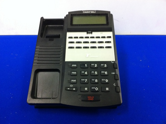 Iwatsu IX-12KTD-3 Omega-Phone 12 Button Multi-Line Telephone Black