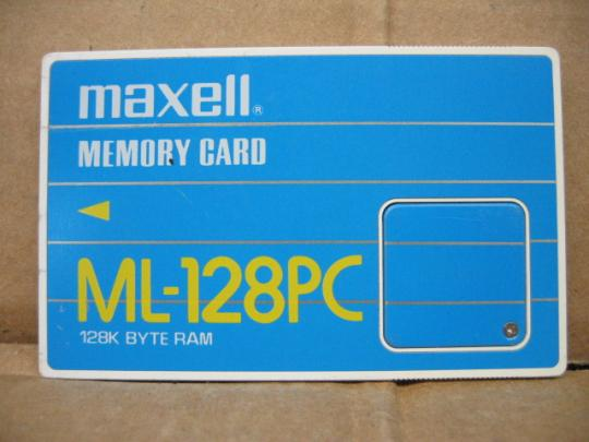 Maxell ML-128PC 128K Byte Ram PCMCIA Flash Memory Card