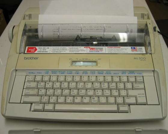 Brother ML-500 Electronic Word Processing Typewriter