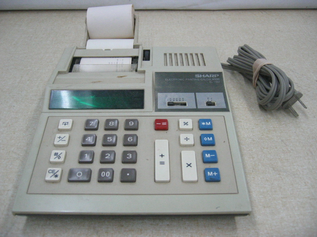 Sharp EL-1182 Electronic Printing Calculator