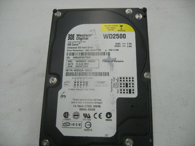 Western Digital Caviar 250GB Internal HD WD2500LB55EDAO