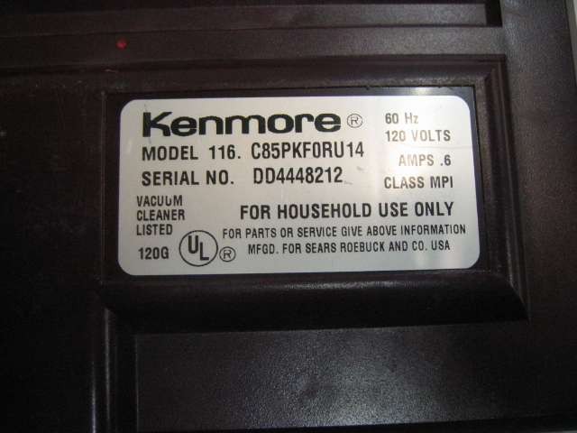 V194H HEPA Allergy Exhaust Filter Canister Vacuum Cleaner 977 EBay moreover Kenmore Powermate Model 116 Vacuum in addition Dyson Motor Replacement Parts furthermore Sears Kenmore Vacuum Cleaners in addition Bagged Canister Vacuum. on kenmore progressive canister vacuum
