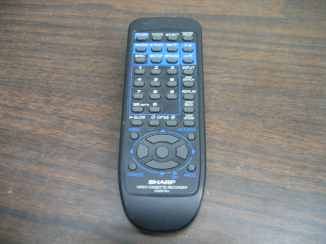 Sharp GA021WJ VCR Remote Control