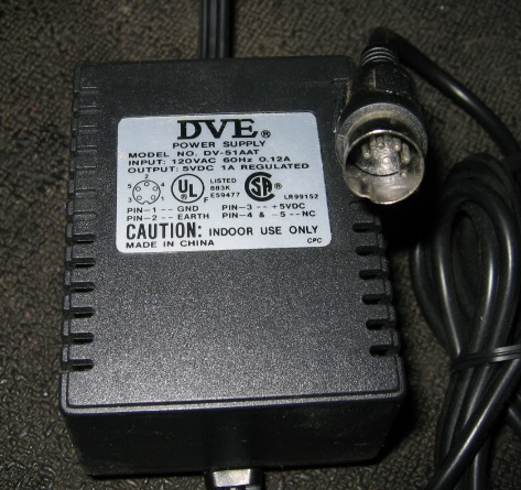 DVE DV-51AAT 5V 1A AC Adapter Power Supply