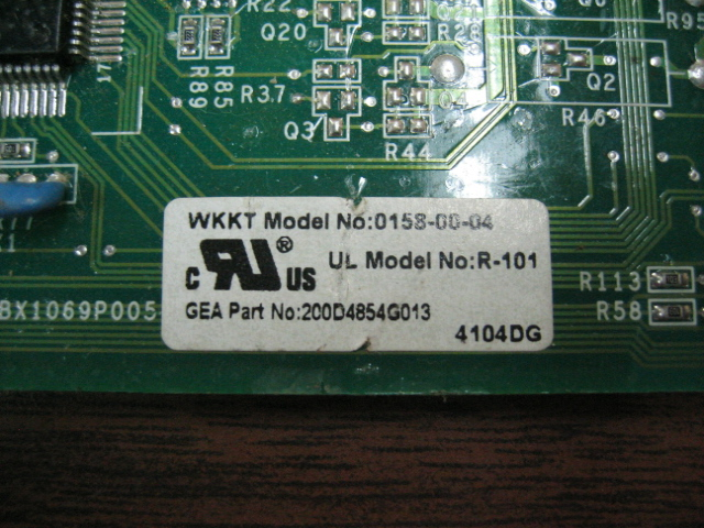 GE 200D4854G013 GE Refrigerator Optics Control Board