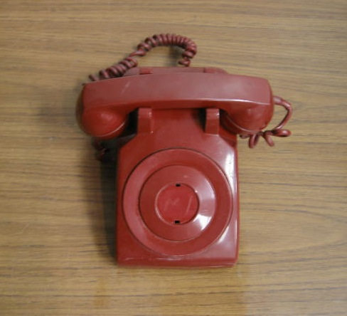 Vintage Western Electric 500 AD Red Dial-less Phone