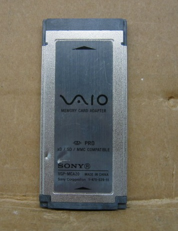 Sony Vaio VGP-MCA20 Memory Card Adapter xD SD MMC