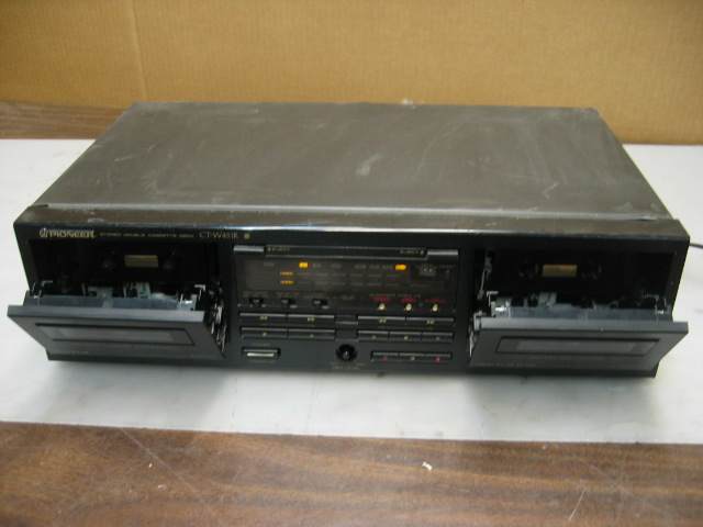 Pioneer CT-W451R Stereo Dual Cassette Tape Deck