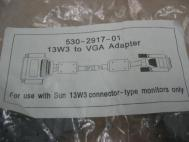 Sun 530-2917-01 VGA to 13W3 Cable Adapter for use with 13W3 Monitor
