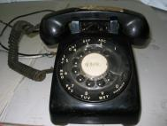 ITT Model 2200 Black Telephone Vintage Rotary Dial