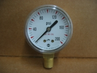 USG CU-2581-HB Pressure Gauge AMETEK 200 psi