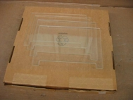 Lot of 4 Perkin Elmer 401834-GT 12cm WTR Glass Plates