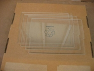 Lot of 4 Gel Company Glass Plate GA018H 12cm WTR Hipped