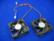 Lot of 2 HZ PV883DF0 DC Brushless Fan DC12V 0.15 A Sleeve Bearing