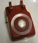 Vintage Red Phone Bell Western Electric 500 ADM CTM 905