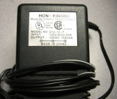 Hon-Kwang 12V Power Supply 1.0A AC Adapter D12-16-P