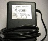 Hon-Kwang 12V Power Supply 1.0A AC Adapter D12-16-P
