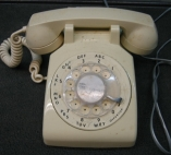 ITT White Rotary Dial Desk Telephone Phone