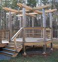 Cypress Rough Sawn 2x8 and 6x6 for shade arbor