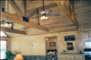 Rustic Cypress beams and T&G V-Joint 1x8 ceiling