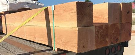 Doug Fir Rough Sawn 8x8, wet