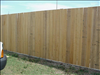 Common Cypress Rough Sawn 1x6 used for fence