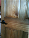 Select Sinker Cypress with natural finish makes a stunning raised panel door.