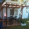Cypress 12'x12' shade arbor with cantilever design.