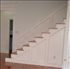 Beautiful reclaimed Longleaf Pine stairs compliment the floors so well...