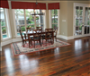 Select Reclaimed Longeaf Pine Flooring 1x6 with light brown stain.