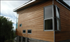 Select Cypress T&G V-Joint 1x8 for siding with clear stain.