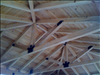 Beautiful Common Cypress cabana ceiling.