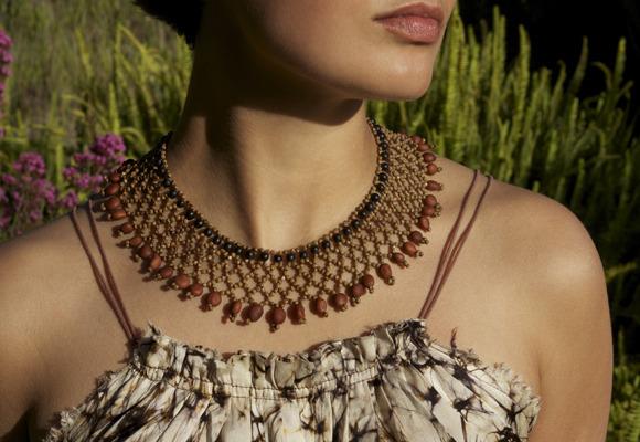 For $75 or more, you receive a gorgeous Cofán Beaded Necklace handmade with rainforest seeds by Asociación Sukû artisans from the Ecuadorian Amazon.