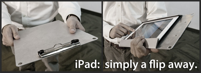 Post image for Crowdfunded accessory combines clipboard and iPad holder