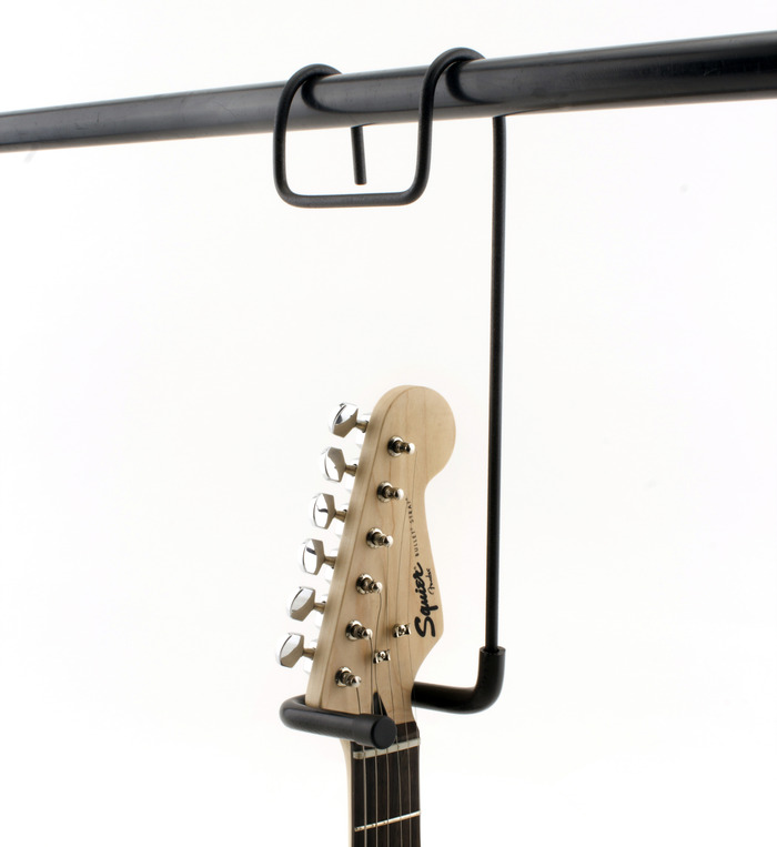Shown Above: A Stratocaster Hanging from the Closet Guitar Hanger