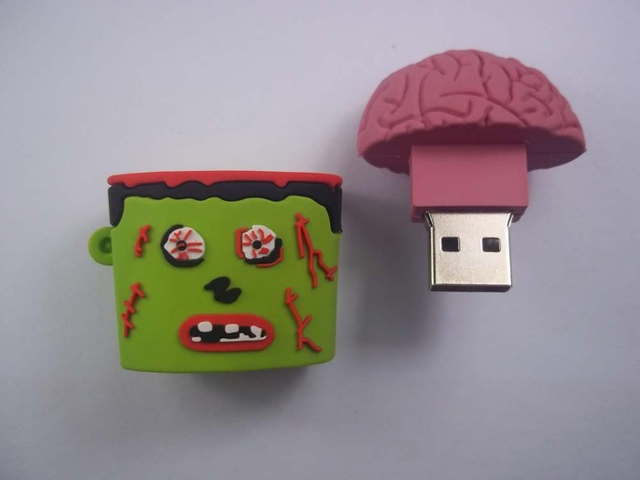 zombie head brain usb flash drive